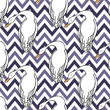 Silly Geese fabric by pond_ripple on Spoonflower - custom fabric