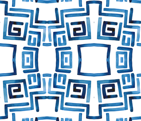 cestlaviv_bluekey fabric by cest_la_viv on Spoonflower - custom fabric