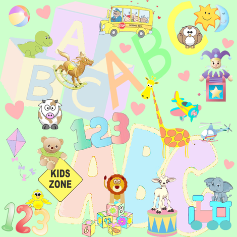 abc 123 fabric by krs_expressions on Spoonflower - custom fabric