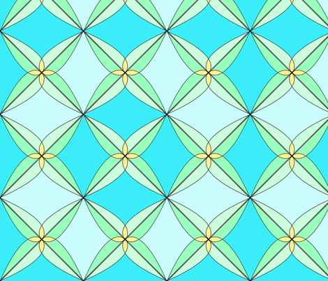 Summer Days Blue fabric by westofthemoon on Spoonflower - custom fabric