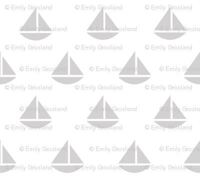 tiny gray boats