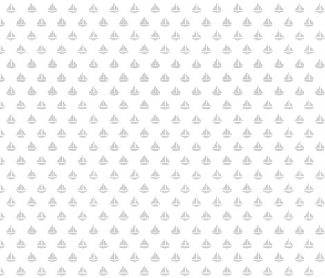 tiny gray boats fabric by plaidgoose_designs on Spoonflower - custom fabric
