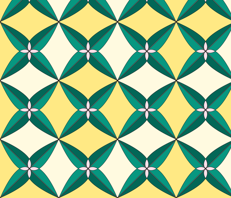 Summer Days Yellow fabric by westofthemoon on Spoonflower - custom fabric
