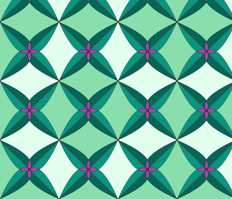 Summer Days Green fabric by westofthemoon on Spoonflower - custom fabric
