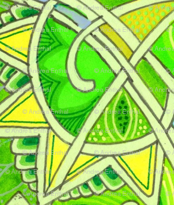 St Patricks Day 1928 (art deco abstract in green)
