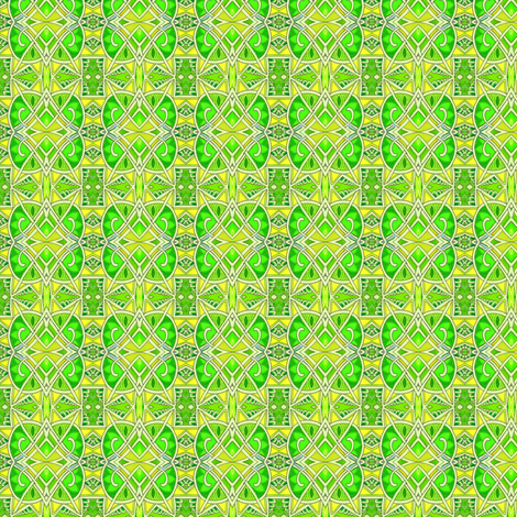 St Patricks Day 1928 (art deco abstract in green) fabric by edsel2084 on Spoonflower - custom fabric