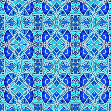 New Years Eve 1928 (large size, all blue) fabric by edsel2084 on Spoonflower - custom fabric
