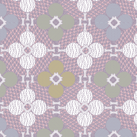netted_and_knotted Pastels fabric by glimmericks on Spoonflower - custom fabric