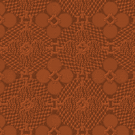 netted_and_knotted_china_copper fabric by glimmericks on Spoonflower - custom fabric