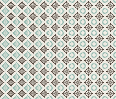 vintage seamless pattern with victorian motif fabric by anastasiia-ku on Spoonflower - custom fabric