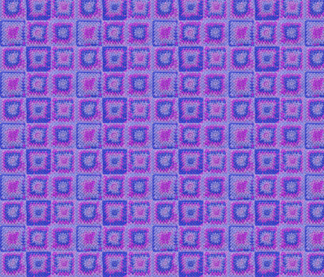 Circle in a Square small Blues and Purples fabric by nezumiworld on Spoonflower - custom fabric