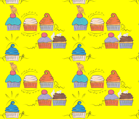 Peace, Love, ...Lions, Lambs and Cupcakes fabric by yourfriendamy on Spoonflower - custom fabric