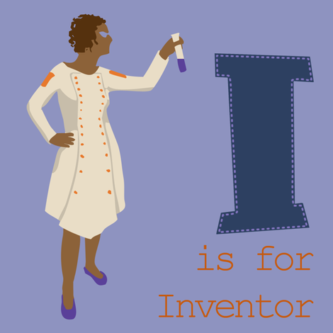 I is for Inventor fabric by phantomssiren on Spoonflower - custom fabric
