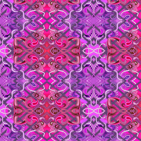 Mmmmm Magenta (and violet, diagonal ombre) fabric by edsel2084 on Spoonflower - custom fabric