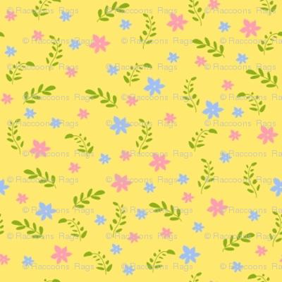 Ditsy yellow bee