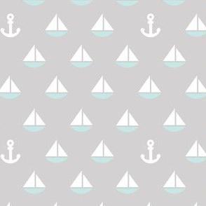 Little Blue Boats - anchor