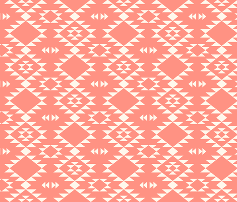 Navajo - Blush off white fabric by kimsa on Spoonflower - custom fabric