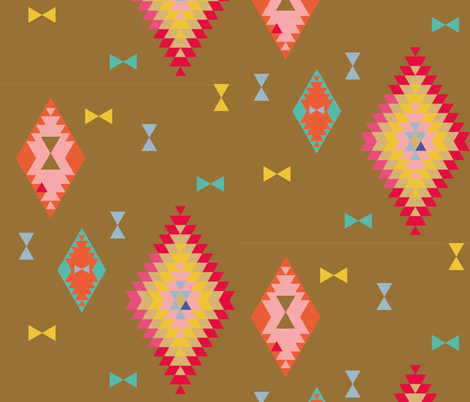 terre mere | kites fabric by studiojelien on Spoonflower - custom fabric