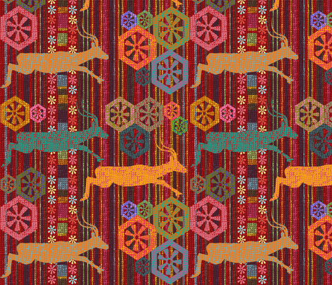 Impalas Running Free fabric by rubydoor on Spoonflower - custom fabric