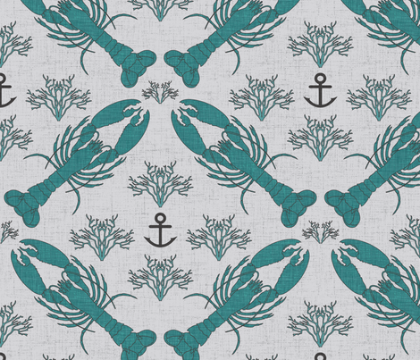 lobster_marine fabric by holli_zollinger on Spoonflower - custom fabric