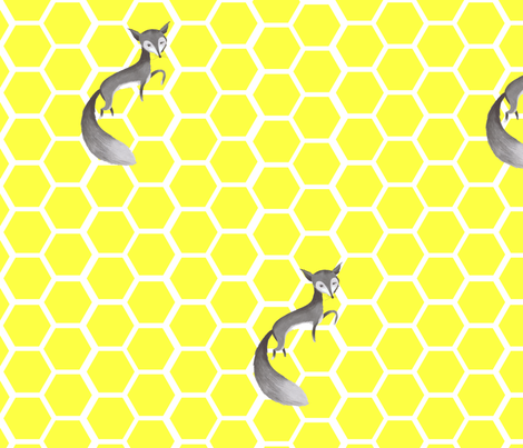 The small grey fox fabric by juffrouw_sanseveria on Spoonflower - custom fabric