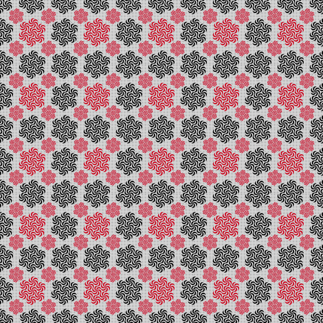 Red and Black Ditsy fabric by telden on Spoonflower - custom fabric