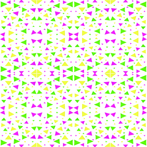 Neon Triangles fabric by empireruhl on Spoonflower - custom fabric