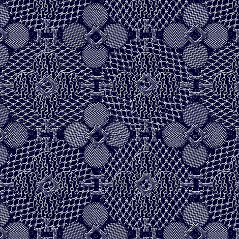 netted_and_knotted_china_indigo fabric by glimmericks on Spoonflower - custom fabric