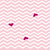 pink chevron heart