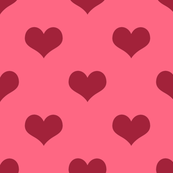 Pretty Pink and Red Hearts