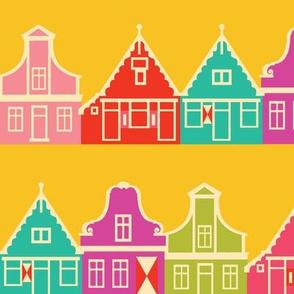 Dutch Houses Fabric