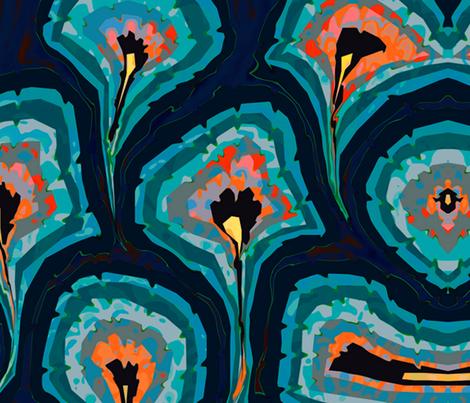 venetian peacock a fabric by zula on Spoonflower - custom fabric