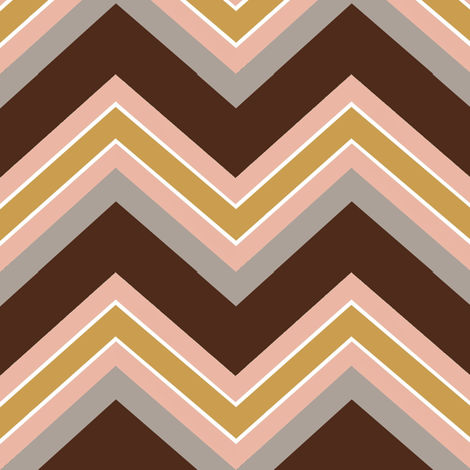 Chevron / coco, peach, carmel, stone fabric by paragonstudios on Spoonflower - custom fabric