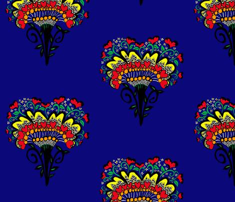 Heart of Africa ©indigodaze2013 fabric by indigodaze on Spoonflower - custom fabric