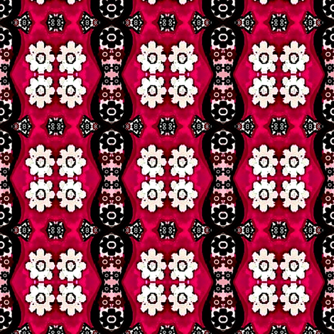Floral pink and white flowers 001 fabric by dk_designs on Spoonflower - custom fabric