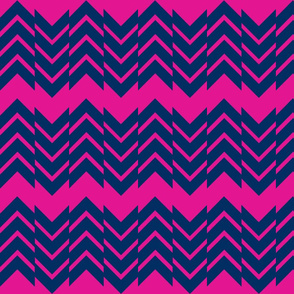 Abstract Chevron Pink/Navy
