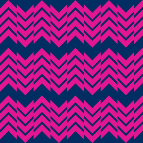 Abstract Chevron Navy/Pink