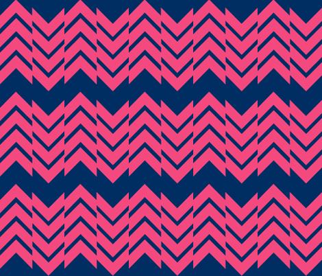 Abstract Chevron Navy/Melon fabric by laurenskye on Spoonflower - custom fabric