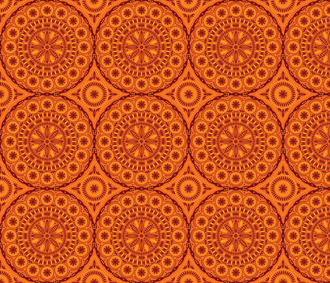 Southern Circles (Orange) fabric by robyriker on Spoonflower - custom fabric