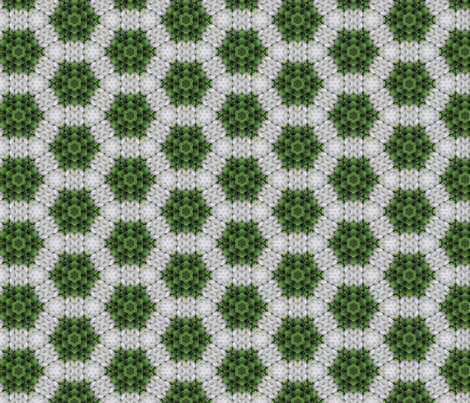 Green and white snowflake fabric by kstarbuck on Spoonflower - custom fabric