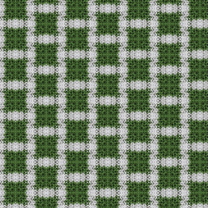 Green and white plaid