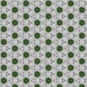 Green and White Polka Dot Round