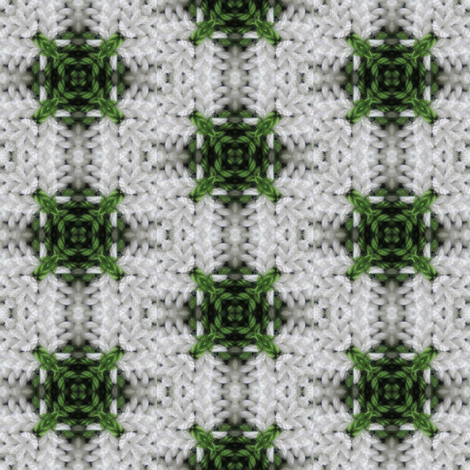 Green and white plaid 02 fabric by kstarbuck on Spoonflower - custom fabric