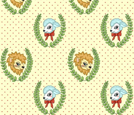 In Like a Lion fabric by molipop on Spoonflower - custom fabric