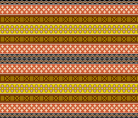 mudcloth spoonflower story : earth tones fabric by sef on Spoonflower - custom fabric