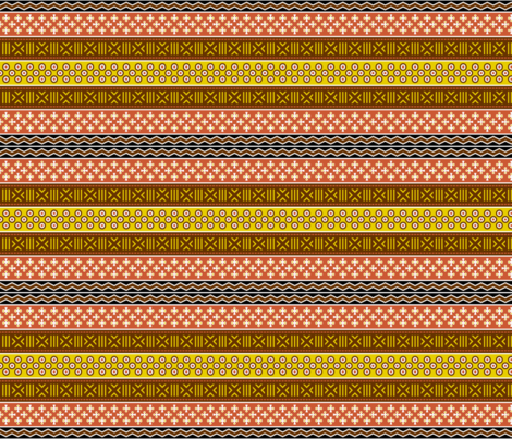 01796455 : mudcloth spoonflower story : earth tones fabric by sef on Spoonflower - custom fabric