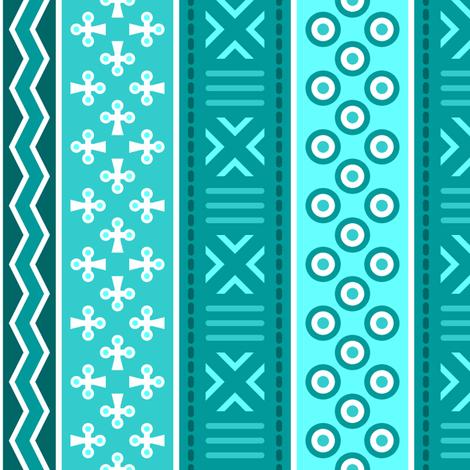 01796548 : mudcloth : cyan teal fabric by sef on Spoonflower - custom fabric