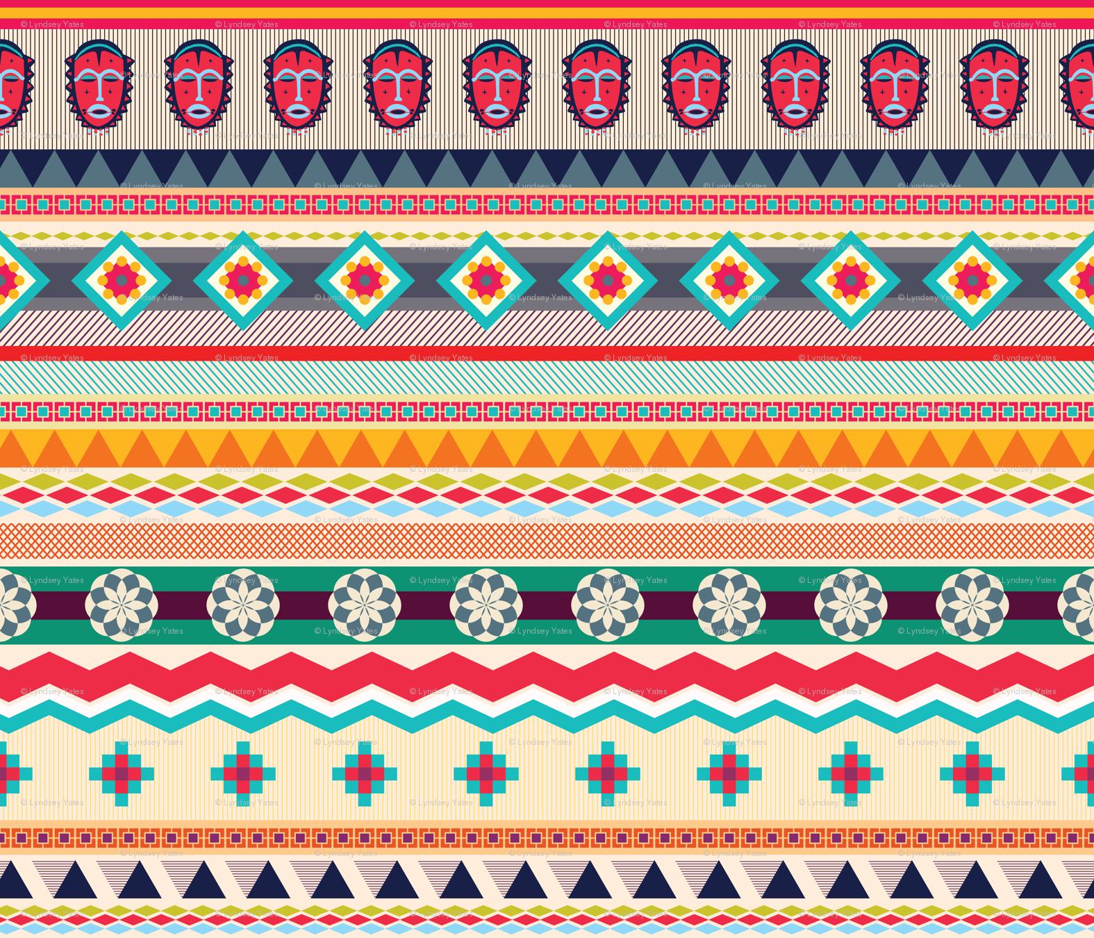 African Textiles Design Wallpaper Linziloop Spoonflower