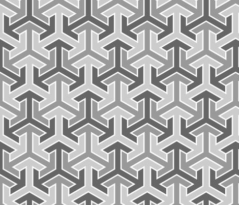tri-arrow 3i fabric by sef on Spoonflower - custom fabric