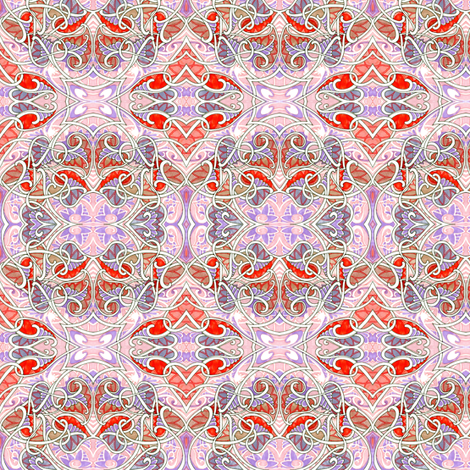 Garlands of Love (pastel feminine abstract with hearts) fabric by edsel2084 on Spoonflower - custom fabric